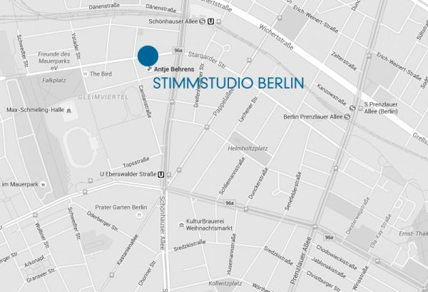 Google Maps Stimmstudio Antje Behrens Berlin